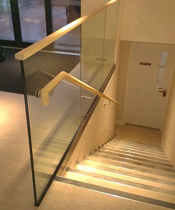 Structural Glass, Staircases, Handrails